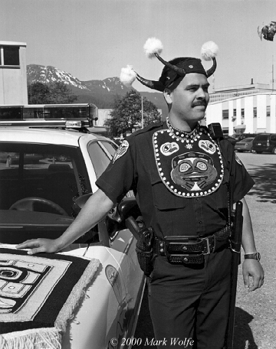 Native policeman   Juneau, Alaska