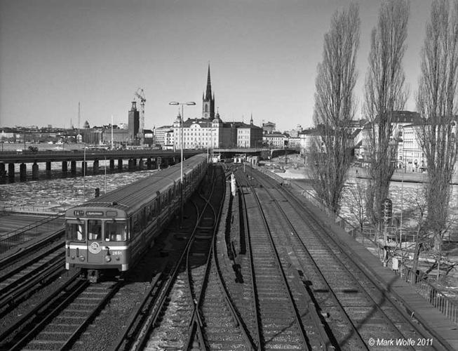 Tunnelbana mellan Gamla Stan   Slussen