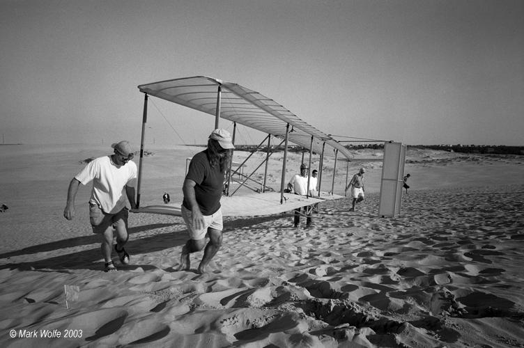 Replica Wright Brothers glider   Kitty Hawk, North Carolina