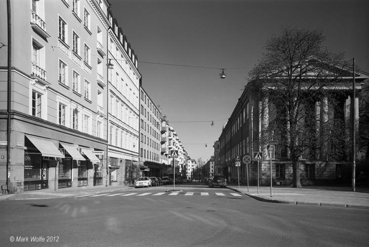 Norrtullsgatan vid inledning till Drottninggatan