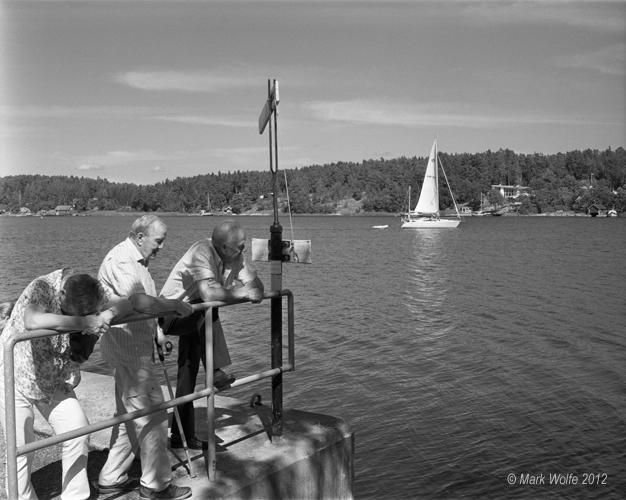 Stensvik   väntar för skärgårdsbåten